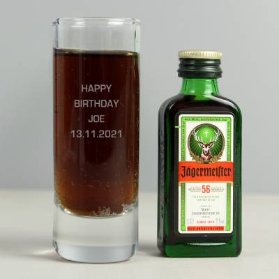Shot Glass and Mini Jagermeister - Shot Glass Gifts