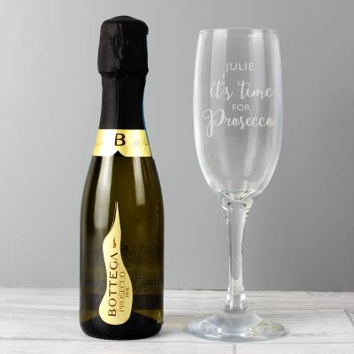 Personalised Its Time for Prosecco Set