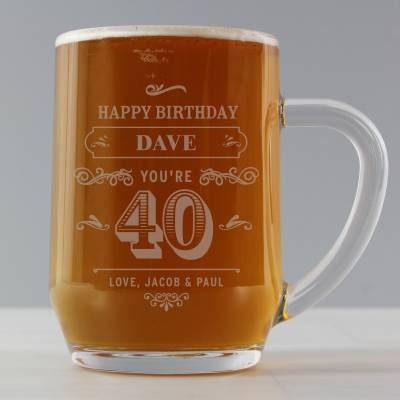 Personalised Birthday Vintage Typography Tankard