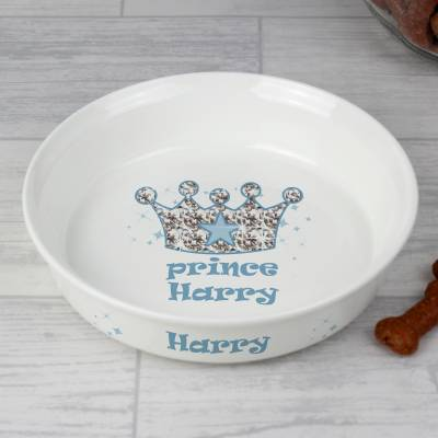 Personalised Bling Prince Pet Bowl - Bling Gifts