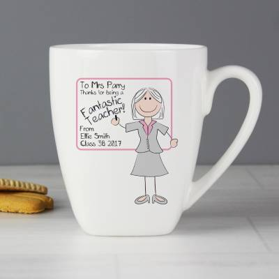 Personalised Mrs Teacher Mug - Teacher Gifts
