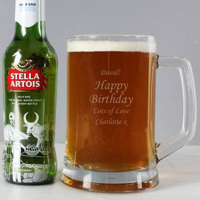 Personalised Stern Tankard & Beer Set