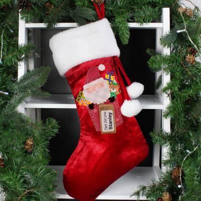 Personalised Santa Claus Luxury Stocking