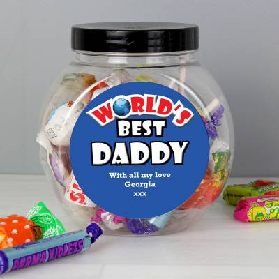Personalised Fathers Day Sweet Jar
