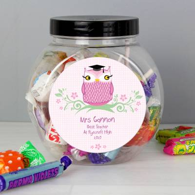 Personalised Mrs Teacher Sweet Jar - Teacher Gifts