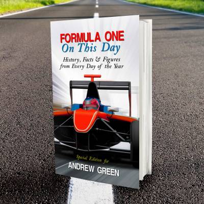 Personalised Formula 1 On This Day Book - Formula 1 Gifts