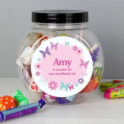 Personalised Butterfly Sweets Jar - Butterfly Gifts