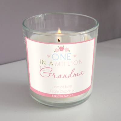 Personalised One in a Million Scented Jar Candle