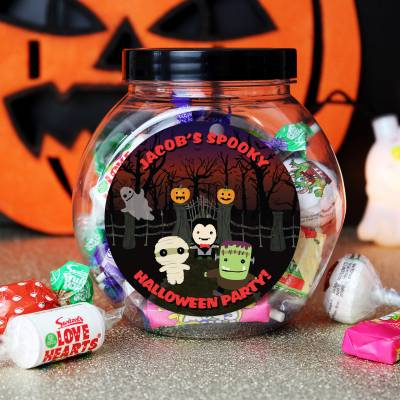 Personalised Halloween Sweet Jar