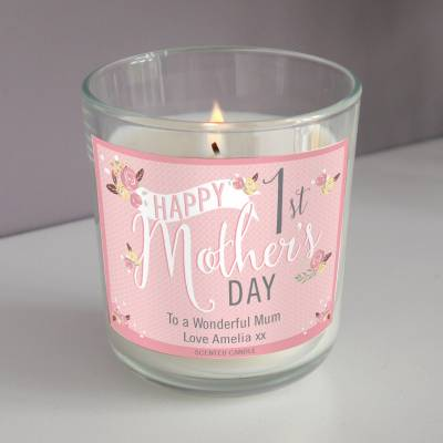 Personalised 1st Mothers Day Scented Candle