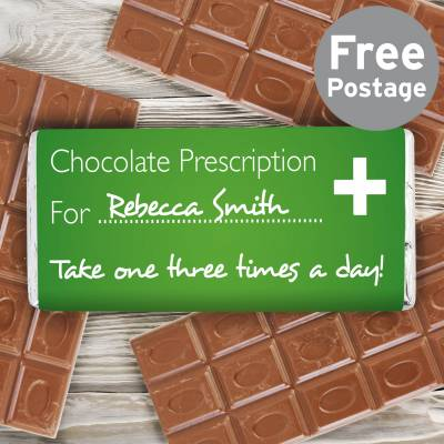 Personalised Chocolate Prescription Bar