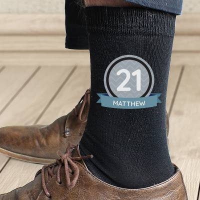 Personalised Birthday Men's Socks - 18th Birthday Gifts