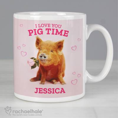 Personalised Racheal Hale 'I Love You Pig Time' Mug