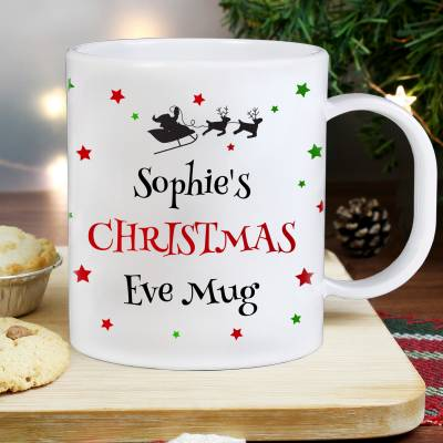 Personalised Christmas Eve Plastic Mug
