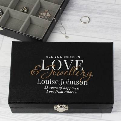 Personalised Love & Jewellery Organiser Box - 18th Birthday Gifts