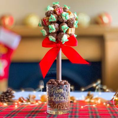 Edible Christmas Presents Chocolate Tree
