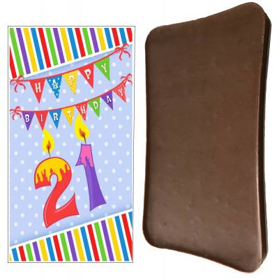 Happy 21st Birthday Chocolate Bar