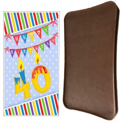 Happy 40th Birthday Chocolate Bar