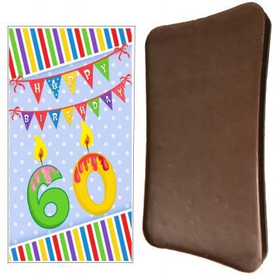 Happy 60th Birthday Chocolate Bar - 60th Birthday Gifts