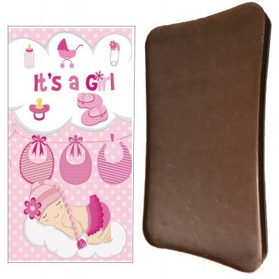 It's A Girl Chocolate Bar