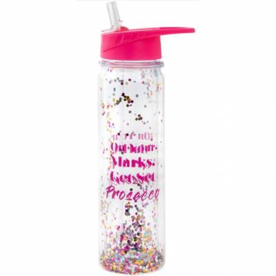 On Your Marks Get Set Prosecco Glitter Bottle
