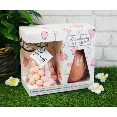 Strawberry and Prosecco Easter Egg and Sweets