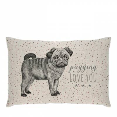 Pugging Love You Cushion