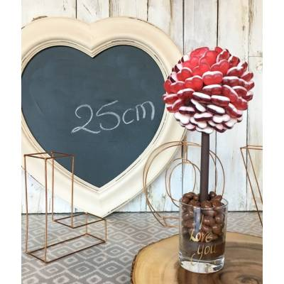 Red Haribo Hearts Sweet Tree 25cm