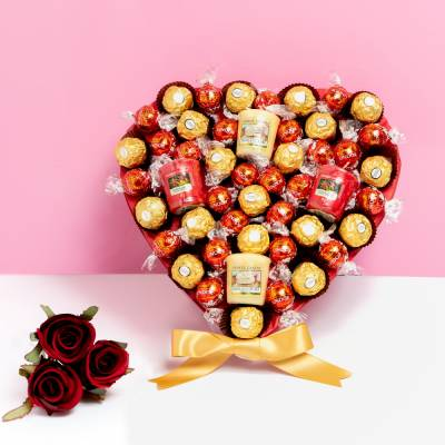 Yankee Candle, Ferrero Rocher and Lindor ChocoLover Hamper