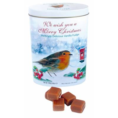 Christmas Vanilla Fudge Tin