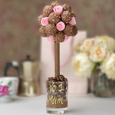 Ferrero Rocher Tree With Edible Pink Roses