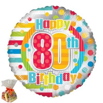 80th Birthday Sweet Balloon