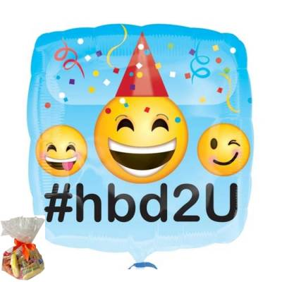 Birthday Emoji Sweet Balloon