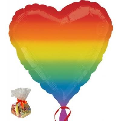 Rainbow Heart Sweet Balloon