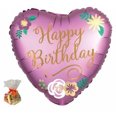 Happy Birthday Purple Heart Sweet Balloon