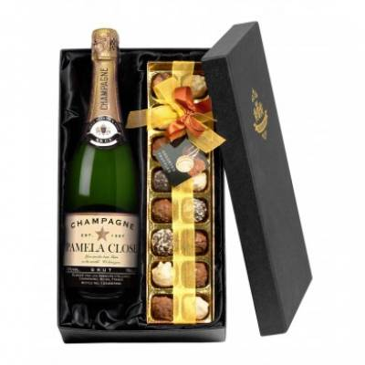 Personalised Champagne with Chocolates - 18th Birthday Gifts