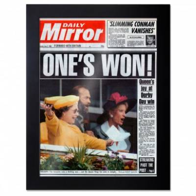 Front Page Newspaper Framed Print From Any Date