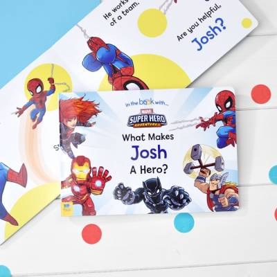 Personalised What Makes Me a Hero Marvel Book