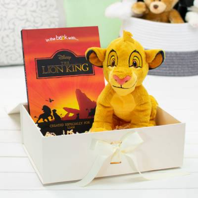 Personalised Lion King Premium Book & Plush Toy