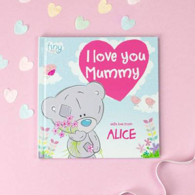 Personalised I Love You Mummy Hardback Book