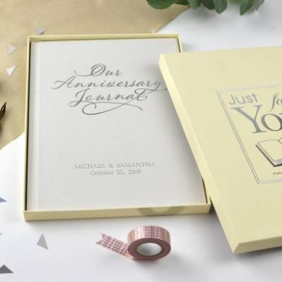 Personalised Our Anniversary Journal - Funkyhampers Gifts