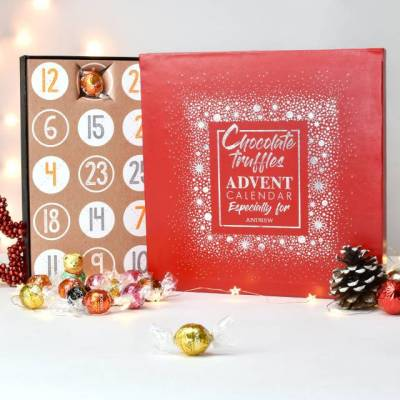 Personalised Lindt Truffles Advent Box