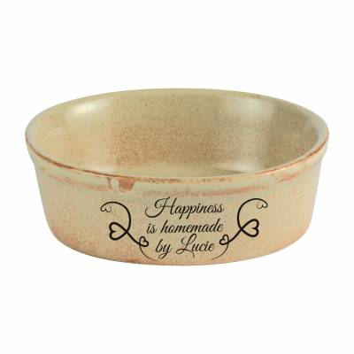 Personalised Rustico Oval Pie Dish