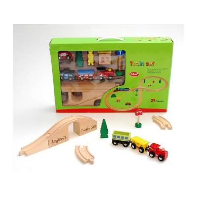 Personalised Wooden Train Track Set