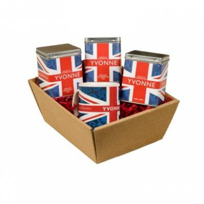 Personalised Union Jack Design Tea Hamper