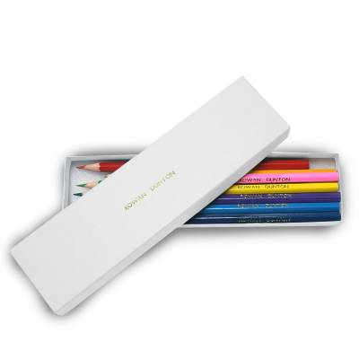 Personalised 12 Colouring Pencils in a White Box