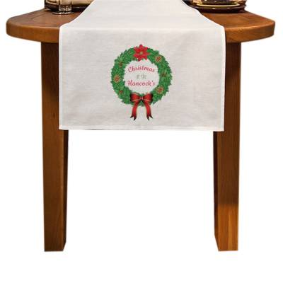 Personalised Traditional Wreath Table Runner