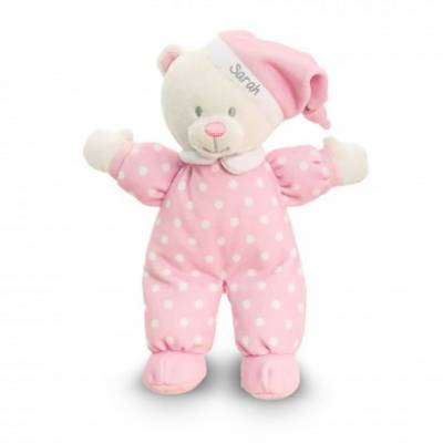 Personalised Babys Pink Goodnight Teddy Bear