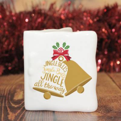 Personalised Jingle Bells Ceramic Card