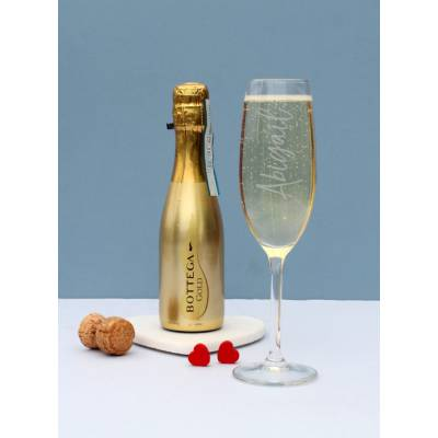 Personalised Flute and Prosecco Set